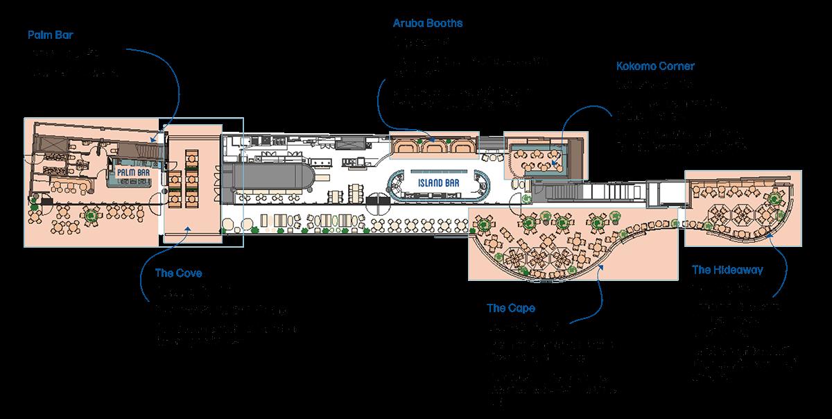 Cabana Bar Function Area Layout